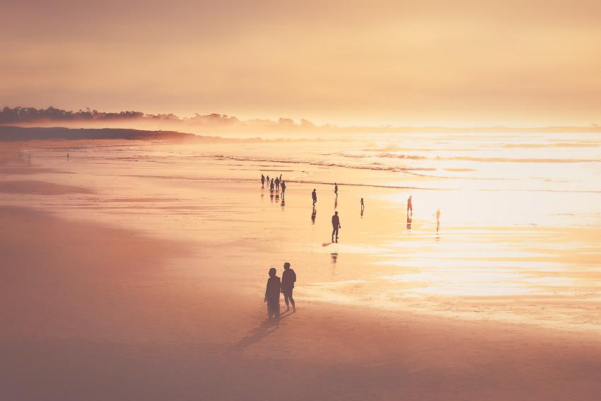Sunset. Spanish Bay, USA