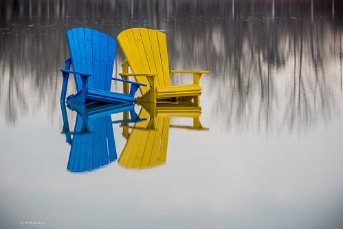 Muskoka chairs flooded at Woodbine Beach - Toronto | by Phil Marion (184 million views - THANKS)
