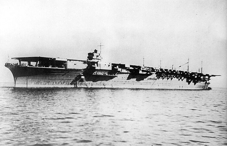 The Japanese aircraft carrier Zuikaku