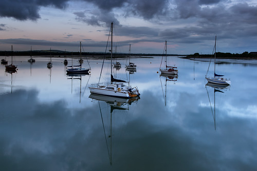 uk sunset sea seascape clouds creek reflections still nikon harbour haylingisland peaceful hampshire calm lee nd april yachts filters grad southcoast tranquil seeingdouble d800 2014 langstoneharbour sunsetsnapper