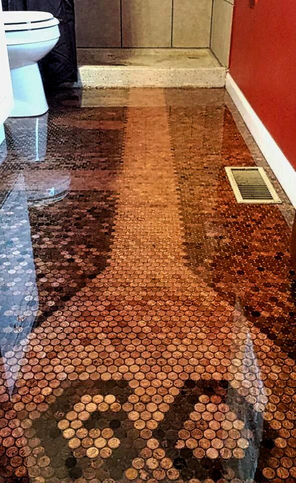 Bathroom Penny Floor Great Design For A Bathroom Floor Wit Flickr
