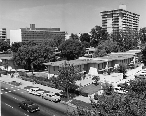 Circa 1964 photo of Capitol Towers and Garden Apartments by Sirlin Studios | by atomicpear