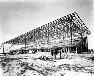 Construction of the Hialeah Park horse racing grandstand