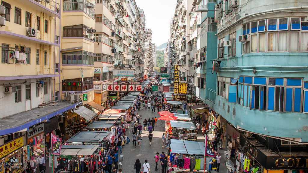 Hong Kong Mongkok Markets 4k Wallpaper Desktop Backgro