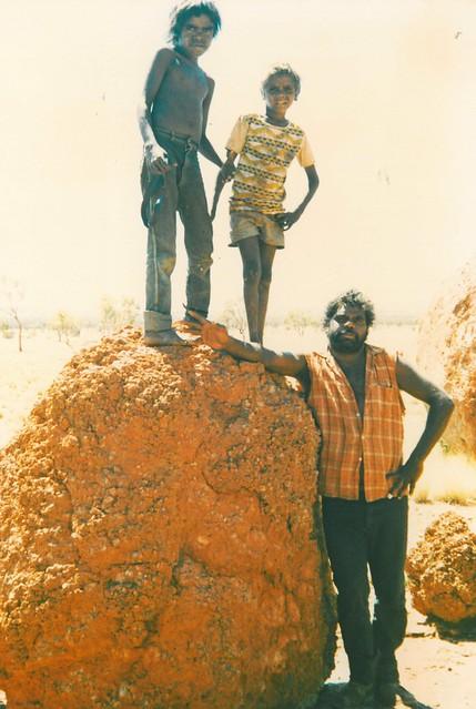 Sam, Adam and Michael - tjanmatja sacred site