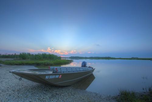 sunrise boat newjersey nj clear g3 hdr 2014 bassriver newgretna canon6d conservewildlifefoundationofnj