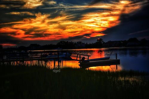 travel sunset usa sun newyork nature beauty silhouette skyline clouds landscape photography landscapes photo nikon scenery view unitedstates sunsets inlet hampton cloudporn theweatherchannel skyporn shinnecockhills d7000