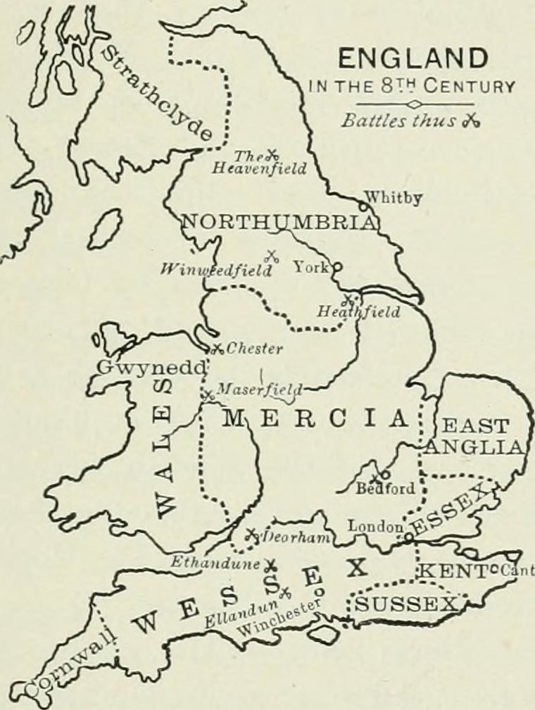 map of ancient mercia