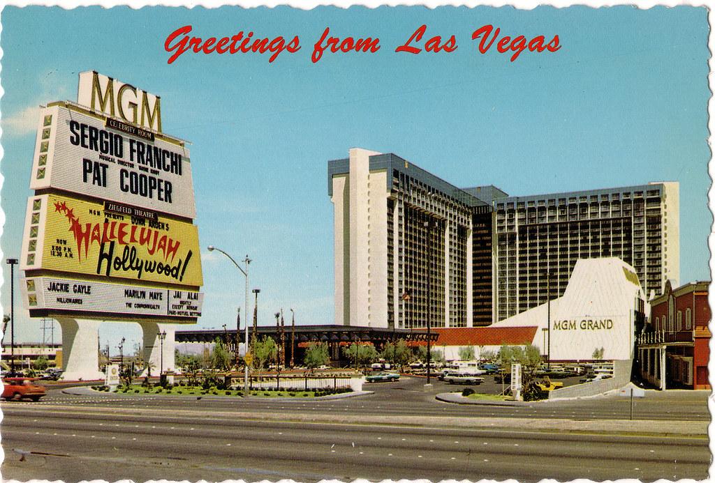 Retro Las Vegas Mid 1970s Mgm Grand Hotel Postcard Flickr