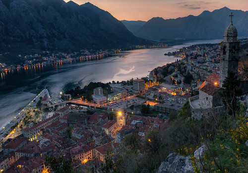 kotor montenegro adriatic sea sunset europe unesco