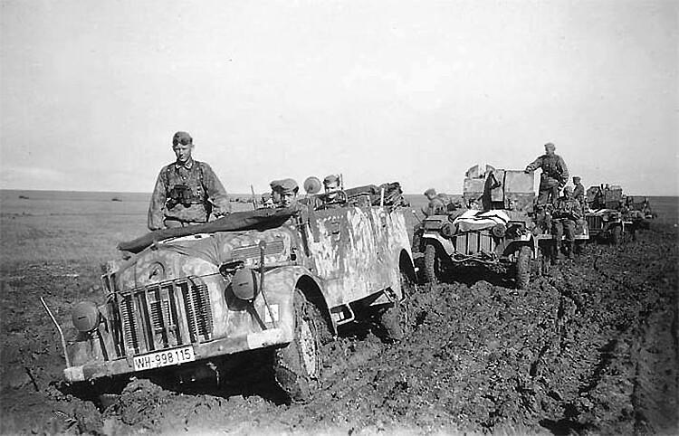 Steyr 1500 A Русия, лято 1942 г.