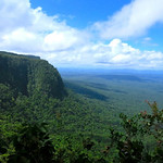 Mon, 06/02/2014 - 8:43am - Looking out from the south rim of Tafelberg. The nearest road in this direction is more than 250 miles away in Brazil. Photo by Andrew Short.