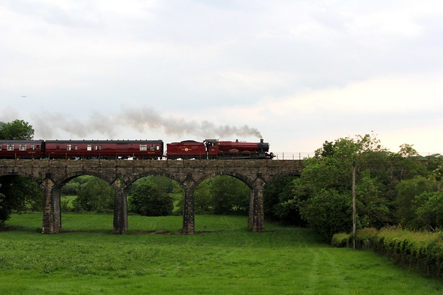 GWR 5972 'Hogwarts Castle' (Olton Hall) crosses Capernwray Viaduct, with the Railway Touring Companies  'The Wizards Express' from Manchester to York on 7th June 2014 ©