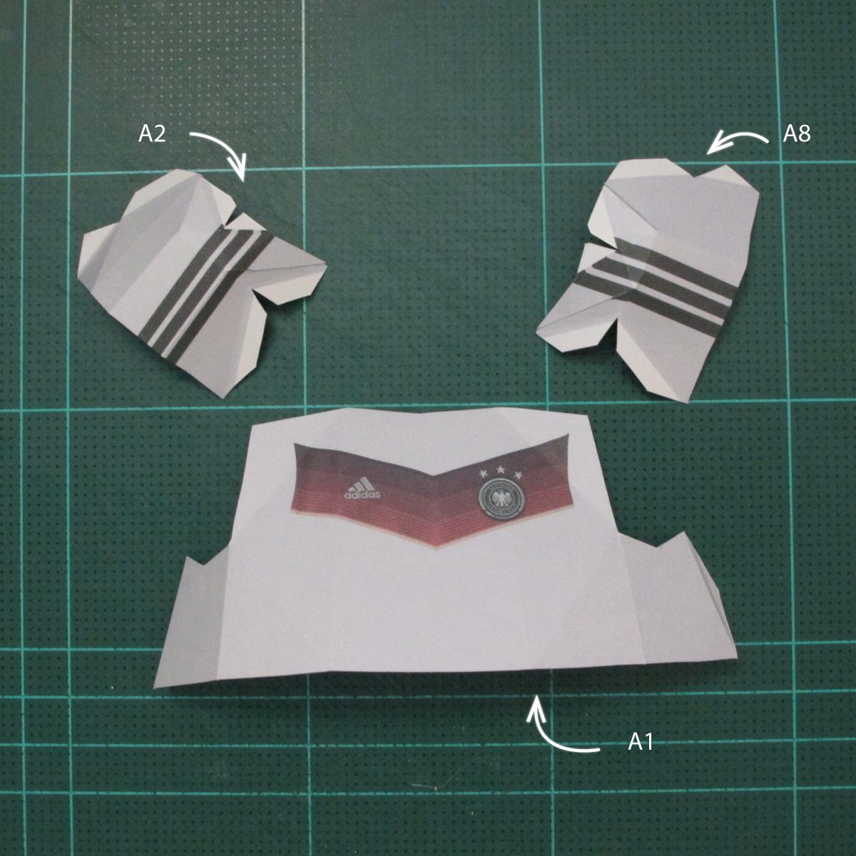 วิธีทำชุดนักบอลฟุตบอลโลก 2014 ทีมเยอร์มันสำหรับโมเดลหมีบราวน์ (FIFA World Cup  Soccer  Germany  Jersey Papercraft Model) 001