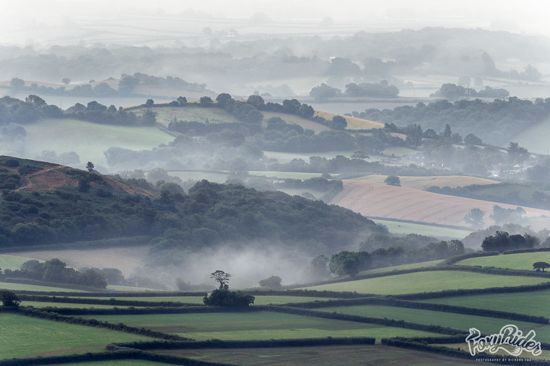 Devon Retreating Morning Mists