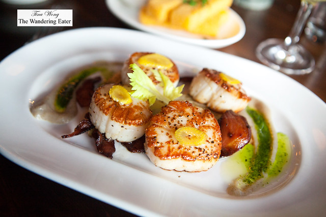 Seared sea scallops