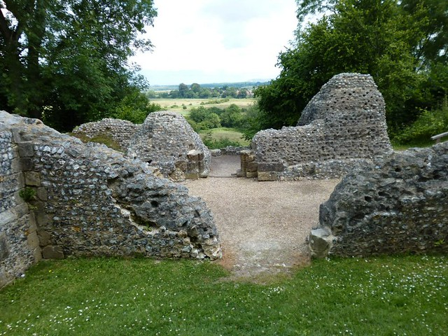 Castle ruin and view