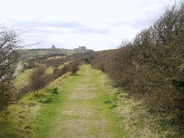View back to Dover Castle