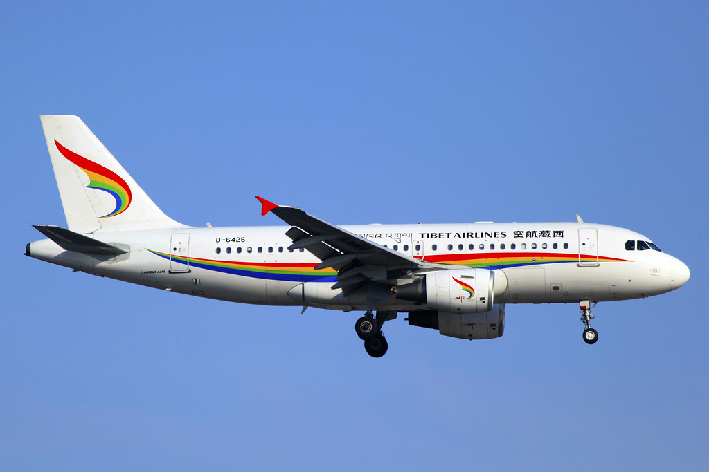 B-6425 | Tibet Airlines | Airbus A319-115 | SHA