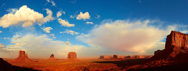Monument Valley in Evening Light