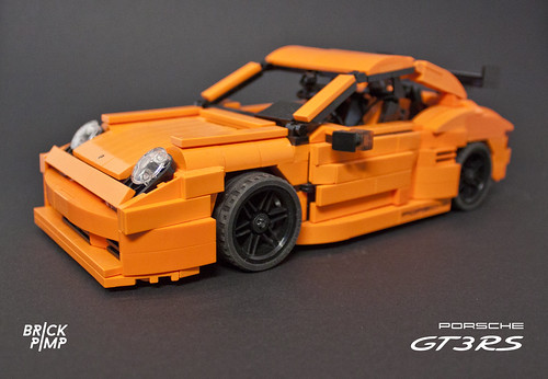 LEGO PORSCHE 911 Carrera GT3 RS (orange custom car)LEGO PORSCHE 911 Carrera GT3 (orange custom car)
