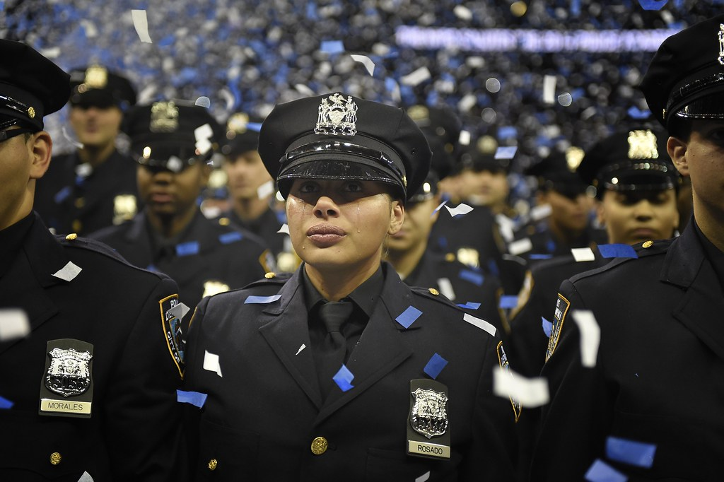New NYPD Police Officer sheds tears of joy at graduation ceremony