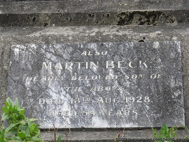 BECK family plot