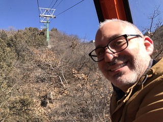 Brad is VERY happy we opted to take the gondola up. | by guyswhotravel