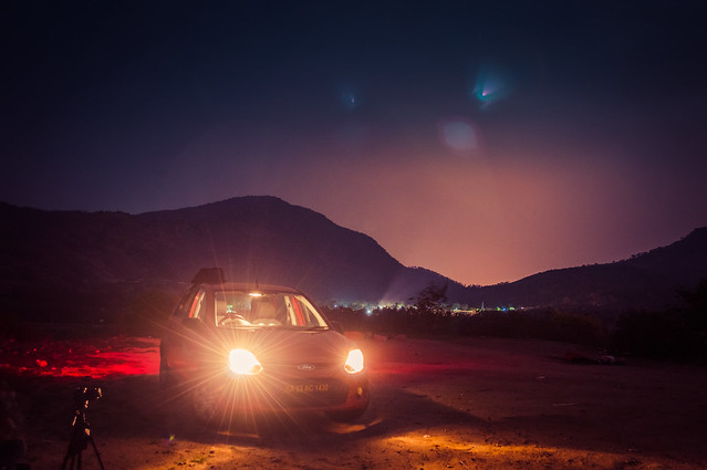 Long Exposure shot at 1AM. Nandi Hills, Bangalore