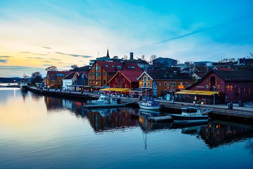 sunset harbour goldenhour
