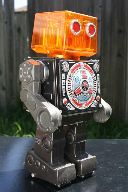 Vintage Piston Robot Made By Horikawa