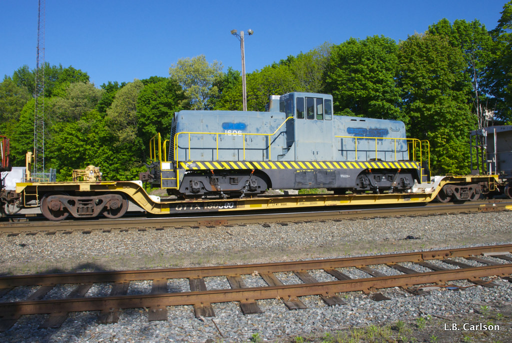 Valley Railroad's Newly Acquired GE 80-Tonner in Plainfield, CT