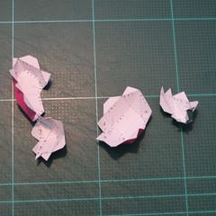 วิธีทำโมเดลกระดาษตุ้กตาคุกกี้รัน คุกกี้รสสตอเบอรี่ (LINE Cookie Run Strawberry Cookie Papercraft Model) 010
