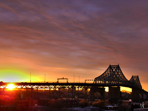 city bridge clouds photoshop sunrise montreal fujifilm hdr springtime 2014 jacquescartierbridge brunolaliberté