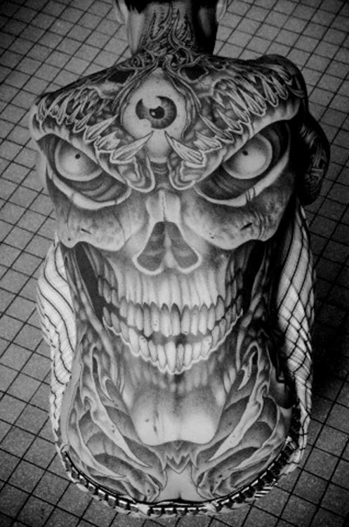 85142fb33 ... new amazing biomechanical 3d tattoo design on full back | by  tattoos_addict