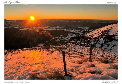 winter sunset sky sun snow france soleil google flickr top hiver ciel neige antenne antenna auvergne coucherdesoleil sommet puydedome bercolly