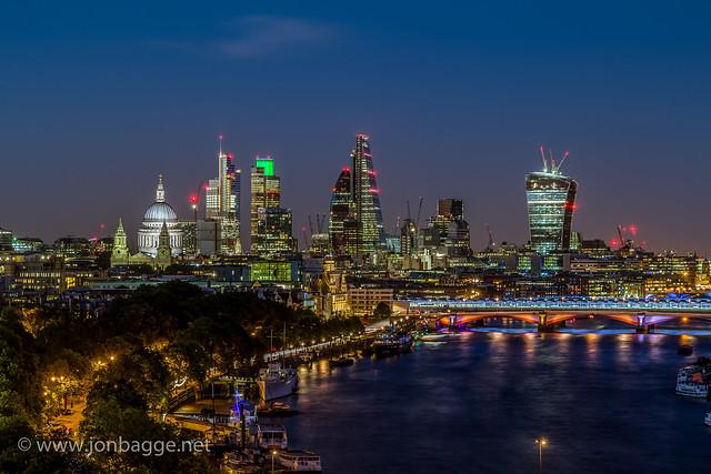 City of London at Night (HDR)
