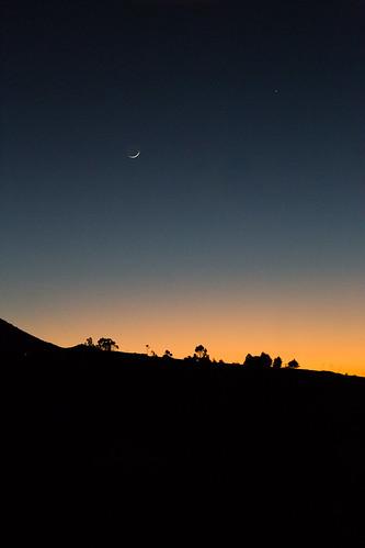 sunset ecuador luna clear estrella ocaso crepúsculo cañar