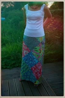 My Amy Butler Lark patchwork skirt