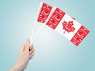 """3"""" x 6"""" Canadian Native Paper Stick Flag 