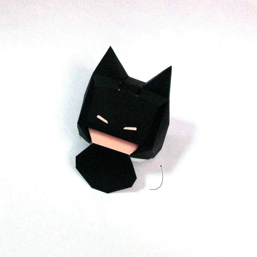 วิธีทำโมเดลกระดาษแบทแมน (Batman Papercraft Model) 005