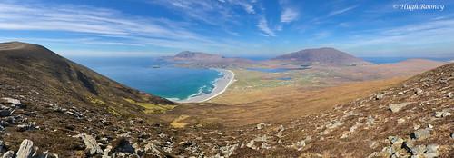 ireland republicofireland countymayo achillisland minaun hills beach seascapes sea panorama vista views croaghaun wildatlanticway