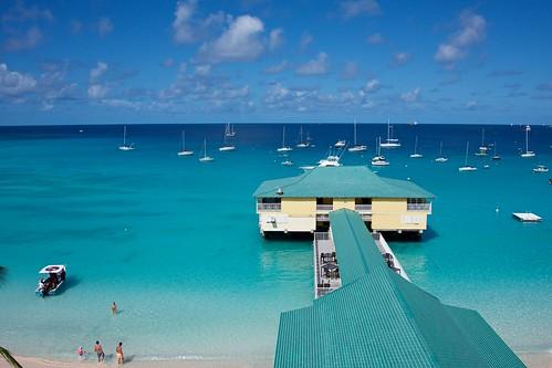bridgetown barbados caribbean beach blue sailboats sailing tropical
