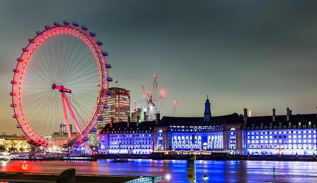 London Eye by night.