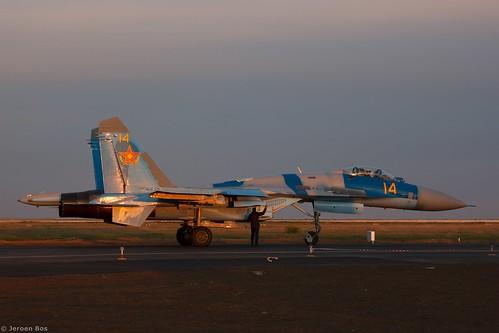 2016 airport defence expo kadex kazachstan kazakhstan uacc қазақстанның air force sukhoi su27m2 14 su27 27 ye yellow 36911031717 kadex2016 astana