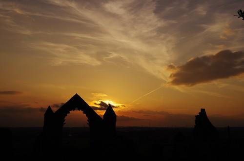 haughmondabbey pentaxart art sunset ruins light sky sun set clouds arch tower pinacle shropshire