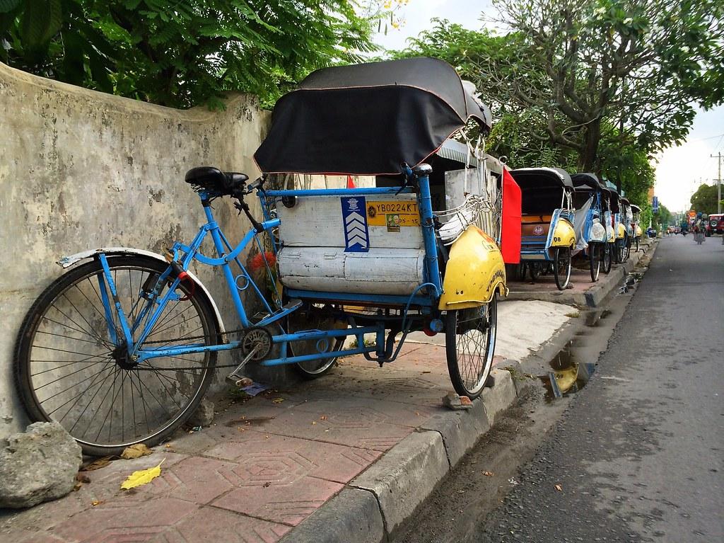 Yogyakarta: becak