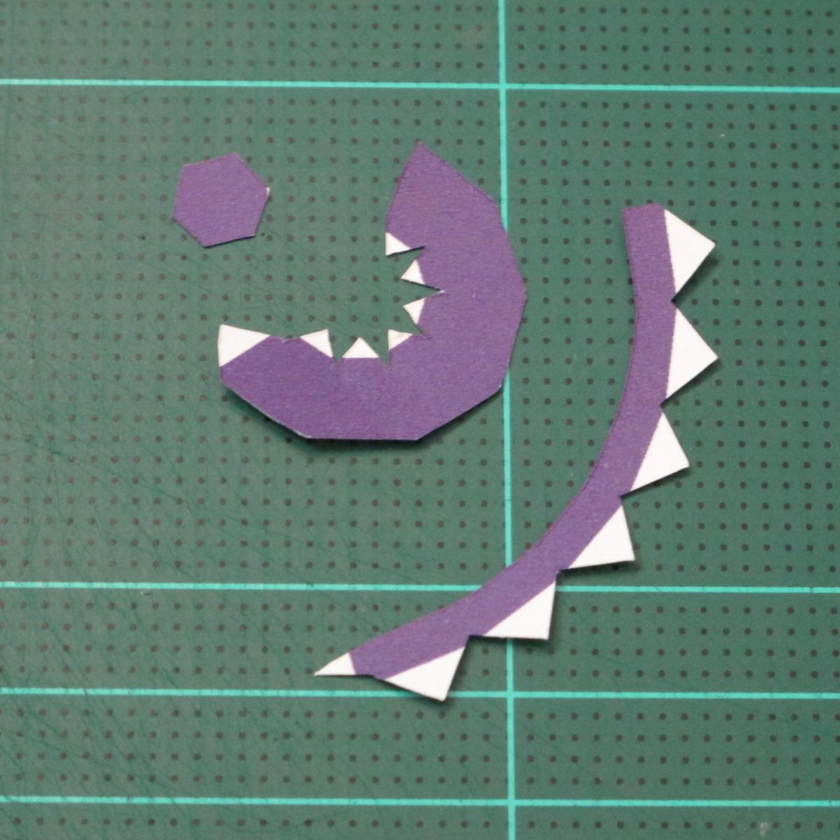 วิธีทำโมเดลกระดาษตุ้กตา คุกกี้รสราชินีสเก็ตลีลา จากเกมส์คุกกี้รัน (LINE Cookie Run Skating Queen Cookie Papercraft Model) 002