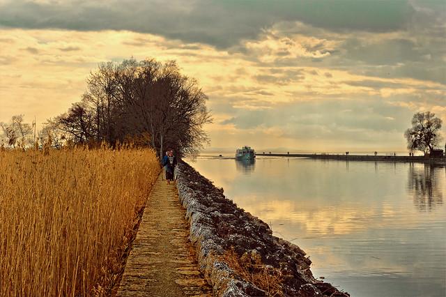 On the bank of the Thielle Canal. Sur les bergs du Canal de la Thielle. No. 3968..