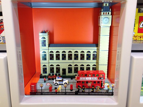 London Scene with Houses of Parliament and Routemaster bus by Andrew Walker   by hhcBrick